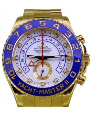Rolex Yacht-Master II 116688 Men's 44mm 18k Yellow Gold Blue Ceramic