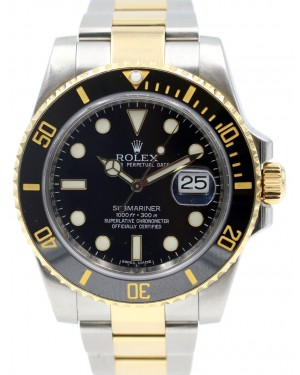 Rolex Submariner 116613 Ceramic Black 40mm 18k Yellow Gold Stainless Steel 116613LN - PRE-OWNED