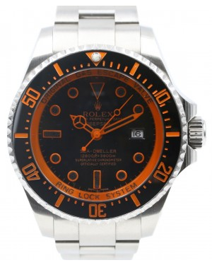 Rolex Deepsea Ceramic 44mm Orange Stainless Steel Sea Dweller PVD Black DLC 126660