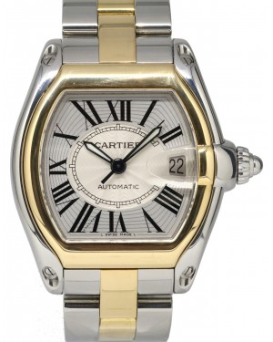 Cartier Roadster W62031Y4 Large Yellow Gold Stainless Steel Two-Tone Automatic