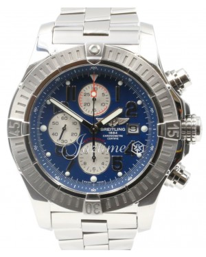 Breitling Super Avenger A13370 Blue Arabic 48mm Stainless Steel Pro 2
