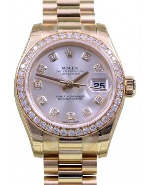 Rolex Datejust Ladies President 179138 Diamond Silver Yellow Gold BRAND NEW