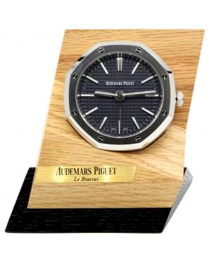 Audemars Piguet Royal Oak Alarm Desk Clock Black Tapisserie Quartz