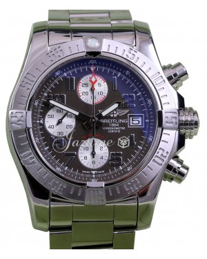 Breitling Avenger II Chronograph A13381 Grey Stainless Steel BRAND NEW