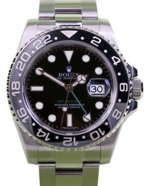 Rolex GMT-Master II Stainless Steel Black Dial & Ceramic Bezel Oyster Bracelet 116710LN - PRE-OWNED