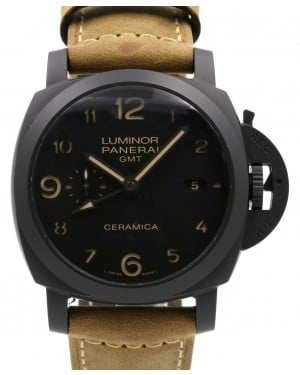 Panerai PAM 441 Luminor 1950 44mm Black Ceramic Leather PRE-OWNED