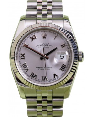 Rolex Datejust 116234 Roman Silver 36mm Stainless Steel Jubilee