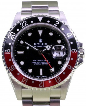 Rolex GMT-Master II 2 16710 Coke Men's 40mm Red Black Stainless Steel No Holes BOX/PAPERS