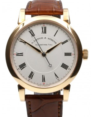 A. Lange & Sohne Richard Lange 232.032 Ivory Manual Wind Rose Gold 38.5mm Men's Leather