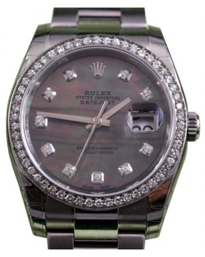 Rolex Datejust 116200 Diamond Dark Mother of Pearl Dial Bezel Oyster BRAND NEW
