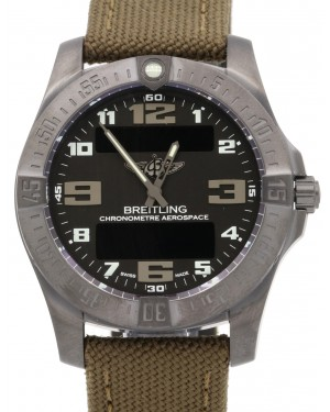 Breitling Aerospace Evo Night Mission Black Arabic Titanium Quartz Men's V7936310-BD60BRFD BRAND NEW