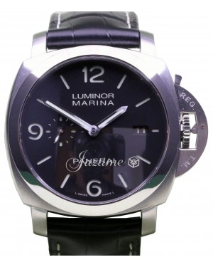 Panerai PAM 312 Luminor Marina 1950's Black Leather Stainless Steel 44mm - BRAND NEW