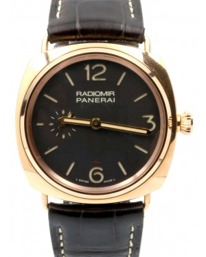 Panerai PAM 439 Radiomir Oro Rosso Brown Tobacco 42mm Red Gold Leather - BRAND NEW