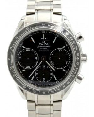 Omega Speedmaster 326.30.40.50.01.001 Racing Co-Axial Black Stainless Steel Chronograph 40mm BRAND NEW