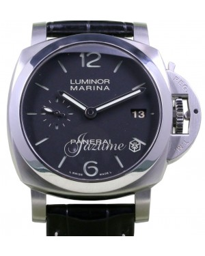 Panerai PAM 392 Luminor Marina 1950 Men's 42mm Black Arabic Index Stainless Steel Date BOX/PAPERS
