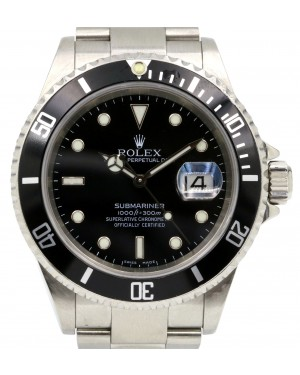 Rolex Submariner 16610 Black 40mm Date Stainless Steel No Holes - PRE-OWNED