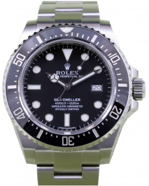 Rolex Sea-Dweller 116600 Men's 40mm Diver Black Stainless Steel Oyster Date