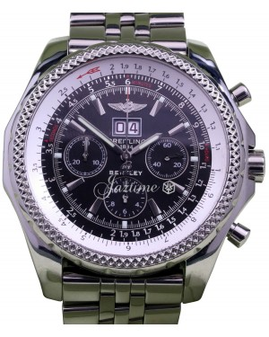 Breitling Bentley 6.75 A44362 Men's 48mm Black Stainless Steel