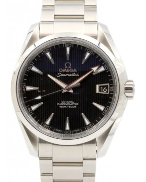 Omega Seamaster Aqua Terra 231.10.39.21.01.001 Black Index 150 M Co-Axial Stainless Steel 38.5mm - BRAND NEW