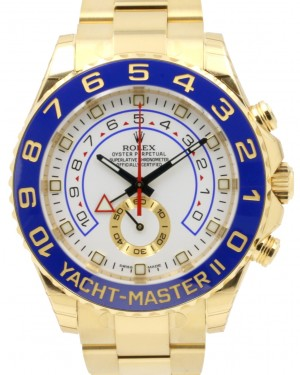 Rolex Yacht-Master II 116688 Men's 44mm 18k Yellow Gold White Ceramic BRAND NEW