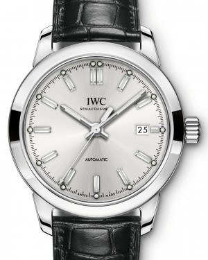 IWC Schaffhausen Ingenieur Automatic IW357001 Silver Index Stainless Steel Black Leather 40mm BRAND NEW