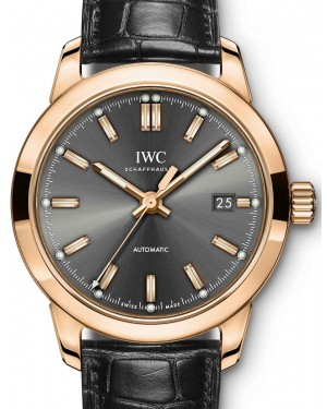 IWC Schaffhausen Ingenieur Automatic IW357003 Slate Index Red Gold Black Leather 40mm BRAND NEW