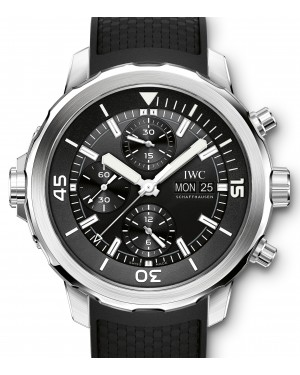 IWC Schaffhausen IW376803 Aquatimer Chronograph Black Index Stainless Steel Black Rubber Chronograph 44mm Automatic