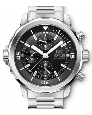 IWC Schaffhausen IW376804 Aquatimer Chronograph Black Index Stainless Steel Chronograph 44mm Automatic