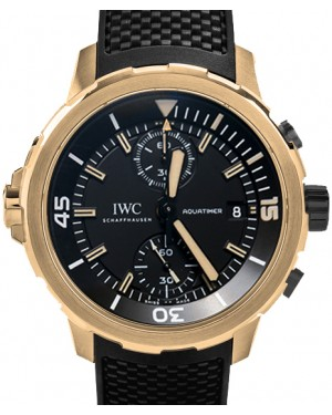 IWC Schaffhausen IW379503 Aquatimer Chronograph Edition Expedition Charles Darwin Black Index Bronze Black Rubber Chronograph 44mm Automatic