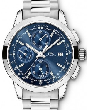 IWC Schaffhausen Ingenieur Chronograph IW380802 Blue Index Stainless Steel 42mm BRAND NEW
