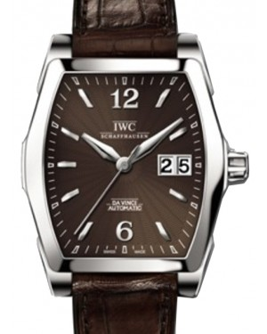 IWC Schaffhausen IW452306 Da Vinci Automatic Brown Index Stainless Steel Brown Leather 35.6 x 42.5 mm Automatic