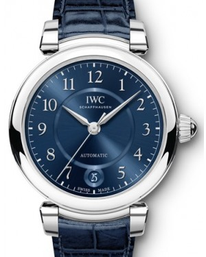 IWC Schaffhausen Da Vinci Automatic 36 IW458312 Blue Arabic Stainless Steel Blue Leather 36mm BRAND NEW