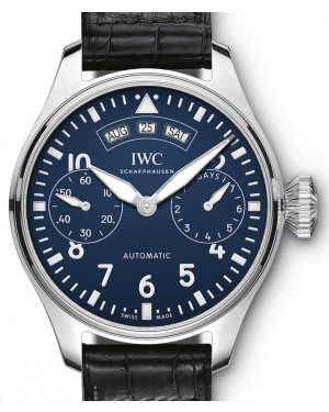 "IWC Big Pilot's Watch Annual Calendar Edition ""150 Years"" IW502708 Blue Arabic Stainless Steel Leather 46.2mm - BRAND NEW"