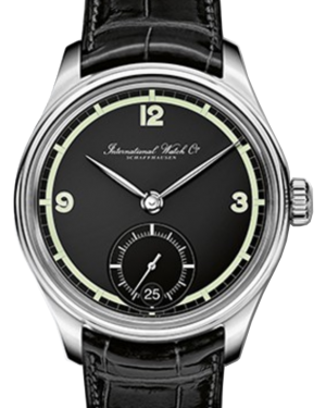 "IWC Schaffhausen IW510205 Portugieser Hand-Wound Eight Days Edition ""75th Anniversary"" Black Arabic Stainless Steel Black Leather 43mm Manual"