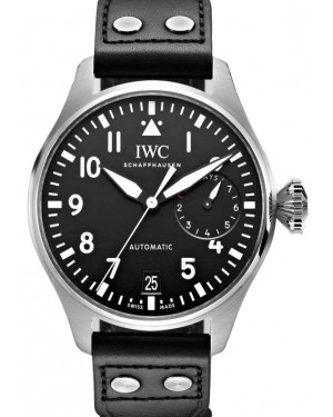 IWC Big Pilot's Watch Stainless Steel Black Dial & Steel Bezel Leather Strap IW501001 - BRAND NEW