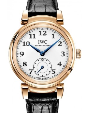 "IWC Da Vinci Automatic Edition ""150 Years"" Yellow Gold White Dial & Gold Bezel Leather Strap IW358103 - BRAND NEW"