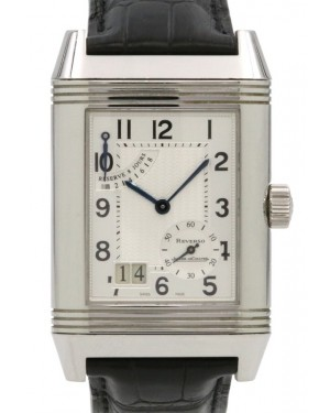 Jaeger LeCoultre Reverso Grande Stainless Steel Silver Arabic Dial & Leather Strap Q3008420 240.8.15 - PRE-OWNED