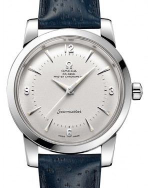 Omega Seamaster 1948 Central Second 511.13.38.20.02.001 Silver Arabic / Index Stainless Steel Leather 38mm - BRAND NEW