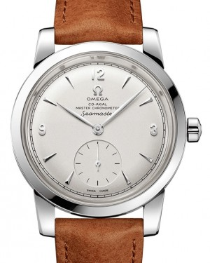 Omega Seamaster 1948 Small Seconds 511.12.38.20.02.001 Silver Arabic / Index Stainless Steel Leather 38mm - BRAND NEW
