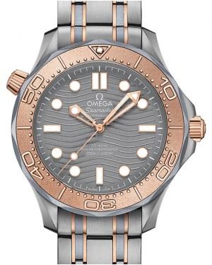Omega Seamaster Diver 300M Co-Axial Master Chronometer 210.60.42.20.99.001 Grey Titanium Sedna Gold 42mm - BRAND NEW