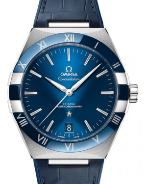 Omega Constellation Co-Axial Master Chronometer Stainless Steel 131.33.41.21.03.001 Blue 41mm Leather - BRAND NEW