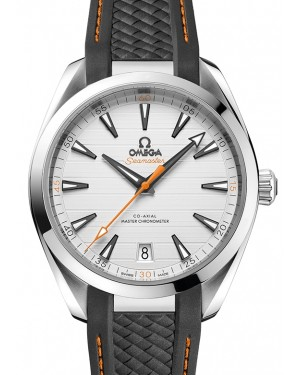Omega Seamaster Aqua Terra 150M Co‑Axial Master Chronometer Stainless Steel Silver Dial & Rubber Strap 41mm 220.12.41.21.02.002 - BRAND NEW