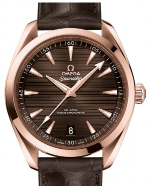 Omega Seamaster Aqua Terra 150M Sedna™ Gold Brown Dial & Leather Strap 41mm 220.53.41.21.13.001 - BRAND NEW