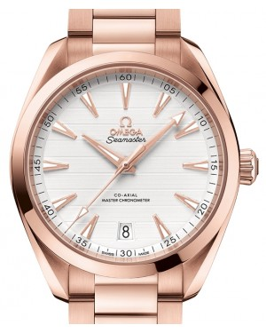 Omega Seamaster Aqua Terra 150M Sedna™ Gold Silver Dial & Gold Bracelet 41mm 220.50.41.21.02.001 - BRAND NEW