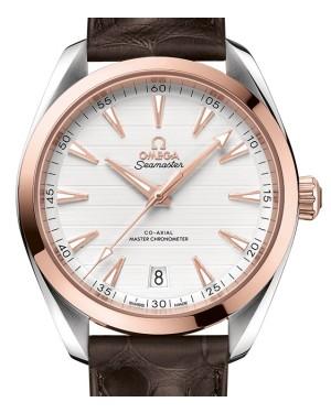 Omega Seamaster Aqua Terra 150M Sedna™ Gold/Steel Silver Dial & Leather Strap 41mm 220.23.41.21.02.001 - BRAND NEW