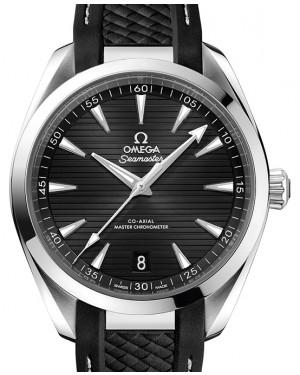 Omega Seamaster Aqua Terra 150M Stainless Steel Black Dial & Rubber Strap 41mm 220.12.41.21.01.001 - BRAND NEW