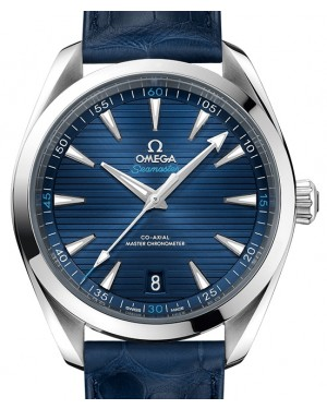 Omega Seamaster Aqua Terra 150M Stainless Steel Blue Dial & Leather Strap 41mm 220.13.41.21.03.001 - BRAND NEW