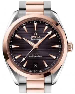 Omega Seamaster Aqua Terra 150M Steel/Sedna™ Gold Grey Dial & Steel/Sedna™ Gold Bracelet 41mm 220.20.41.21.06.001 - BRAND NEW