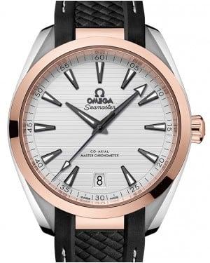 Omega Seamaster Aqua Terra 150M Steel/Sedna™ Gold Silver Dial & Rubber Strap 41mm 220.22.41.21.02.001 - BRAND NEW