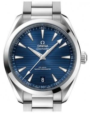 Omega Seamaster Co-Axial Aqua Terra Chronometer Stainless Steel Blue 41mm Dial Bezel & Bracelet 220.10.41.21.03.004 - BRAND NEW